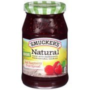 Fruit Spread, Smucker's® Natural Red Raspberry Fruit Spread (17.25 oz Jar)