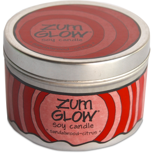 Candle, Zum Glow® Soy Candle, Sandalwood-Citrus (7 oz Canister)