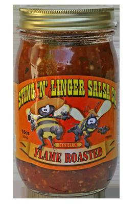 Salsa, Sting 'N' Linger® Medium Flame Roaster Salsa (16 oz Jar)