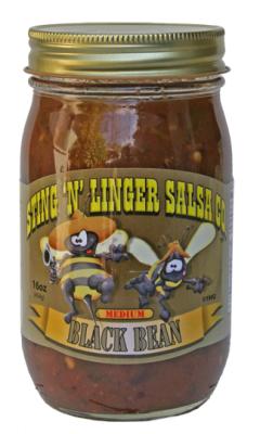 Salsa, Sting 'N' Linger® Medium Black Bean Salsa (16 oz Jar)
