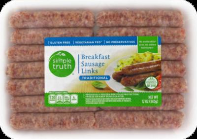 Fresh Sausage Links, Simple Truth™ Pork Sausage Links (12 oz Tray, 14 Count)