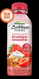 Juice Drink, Bolthouse Farms® Breakfast Smoothie, Strawberry Parfait (15.2 oz Bottle)