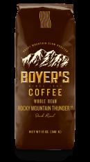 Bean Coffee, Boyer's® Rocky Mountain Thunder™ Whole Bean Coffee (12 oz Bag)