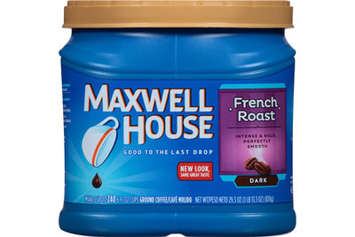 Ground Coffee, Maxwell House® French Roast Ground Coffee (25.6 oz Tub)