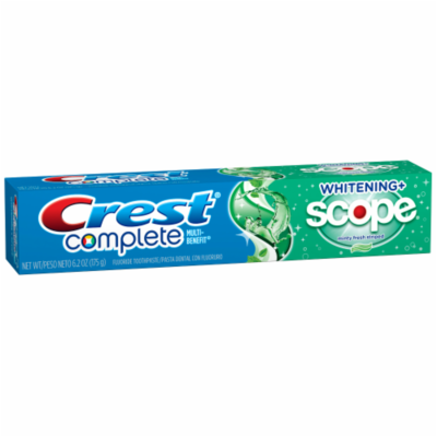 Toothpaste, Crest® Complete Whitening Plus Scope (6.2 oz Box)