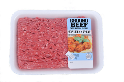 Beef, Ground Beef 93% Lean (1 lb Tray)