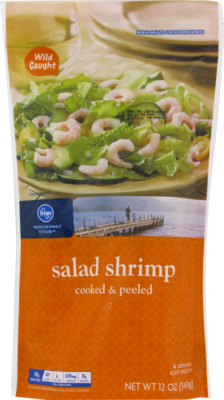 Frozen Shrimp, Kroger® Cooked & Peeled Salad Shrimp (¾ Pound = 12 oz Bag)