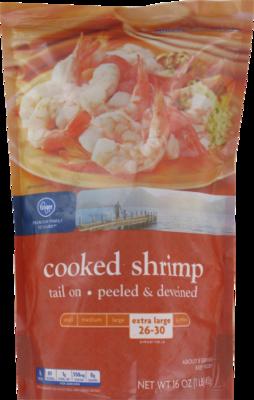 Frozen Shrimp, Kroger® Cooked Cocktail Shrimp (1 Pound = 16 oz Bag)