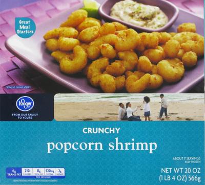 Frozen Shrimp, Kroger® Crunchy Popcorn Shrimp (20 oz Box)