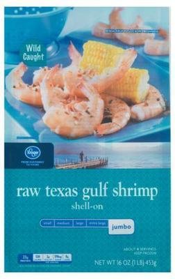 Frozen Shrimp, Kroger® Texas Jumbo Gulf Shrimp (1 Pound = 16 oz Box)