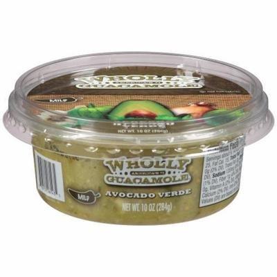 Guacamole Dip, Wholly Guacamole® Avocado Verde Guacamole Dip (10 oz Tub)