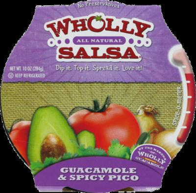 Guacamole Dip, Wholly Guacamole® Guacamole & Spicy Pico Dip (10 oz Tub)