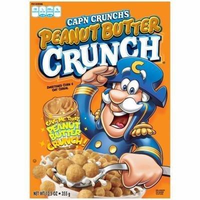 Cereal, Quaker Oats® Cap'n Crunch® Peanut Butter Cereal (12.5 oz Box)