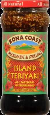 Teriyaki Sauce, Kona Coast® Paradise Pineapple Teriyaki Marinade & Grilling Sauce (15 oz Bottle)