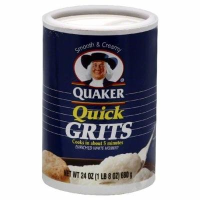 Grits, Quaker® Quick White Grits (24 oz Tube)