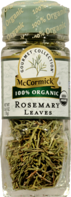 Seasonings, McCormick Gourmet® Rosemary Leaves (0.65 oz Jar)