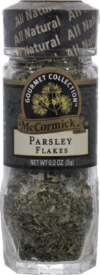 Seasonings, McCormick Gourmet® Parsley Flakes (0.2 oz Jar)