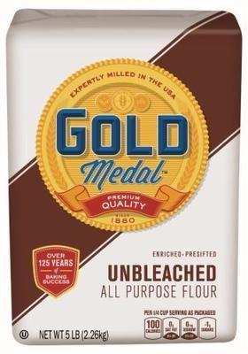 Baking Flour, Gold Medal® All Purpose Unbleached Flour (80 oz Bag)