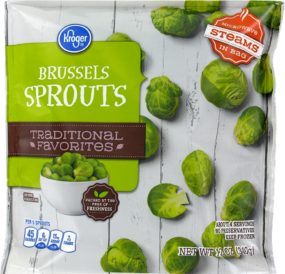 Frozen Brussels Sprouts, Kroger® Brussels Sprouts (12 oz Bag)