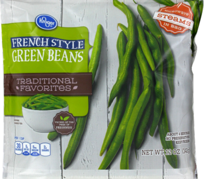 Frozen Green Beans, Kroger® French Style Green Beans (12 oz Bag)