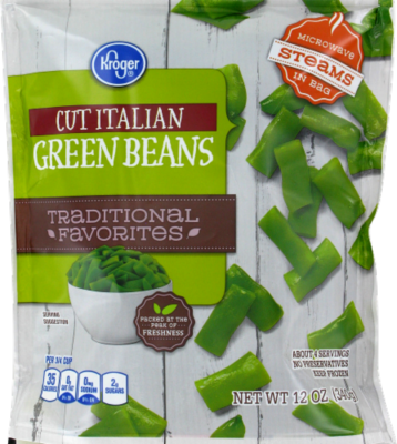 Frozen Green Beans, Kroger® Cut Italian Green Beans (12 oz Bag)