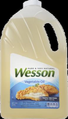 Canola Oil, Wesson® Pure Vegetable Oil (128 oz Bottle)