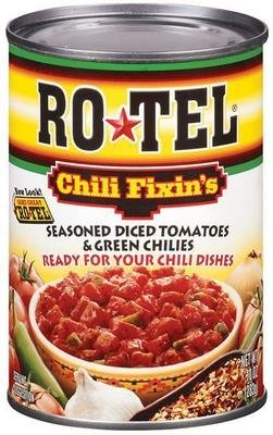 Canned Tomato, Rotel® Chili Fixin's® Diced Tomatoes & Green Chiles (10 oz Can)