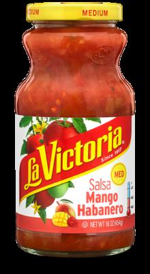 Salsa, La Victoria® Medium Habanero Salsa (16 oz Jar)