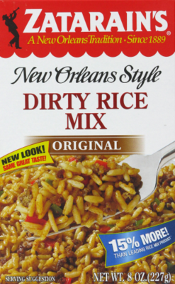 Rice, Zatarain's® New Orleans Style Dirty Rice Mix (8 oz Box)