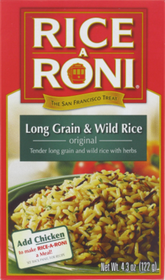 Rice, Rice A Roni® Long Grain & Wild Rice (4.3 oz Box)