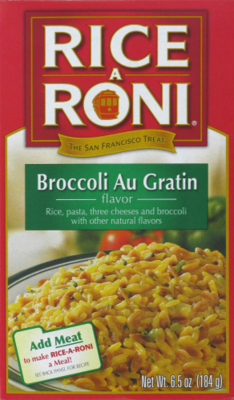 Rice, Rice A Roni® Broccoli Au Gratin Rice (6.5 oz Box)
