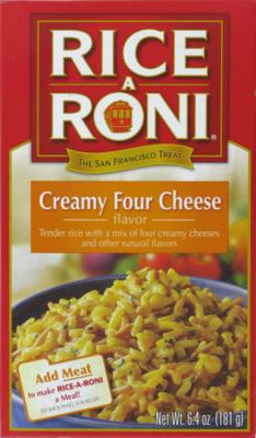Rice, Rice A Roni® Creamy Four Cheese Rice (6.4 oz Box)