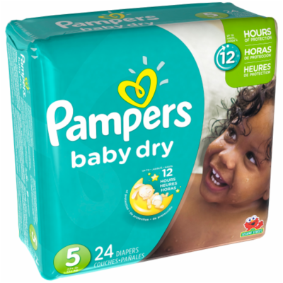 Baby Diapers, Pampers® Size 5 Baby Dry Diapers (24 Count Bag)