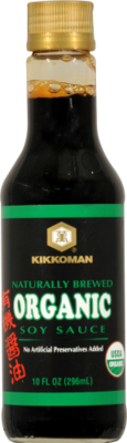 Soy Sauce, Kikkoman® Organic Soy Sauce (10 oz Bottle)