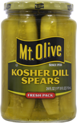 Preserved Pickles, Mt Olive® Kosher Dill Pickle Spears (24 oz Jar)