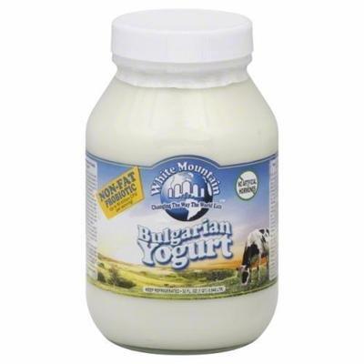 Yogurt, White Mountain® Non Fat Plain Yogurt (32 oz Jar)