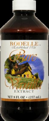Seasonings, Rodelle® Pure Vanilla Extract (8 oz Bottle)