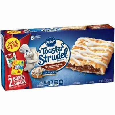 Strudel, Pillsbury® Cinnamon Roll Toaster Strudel (6 count, 11.7 oz Box)