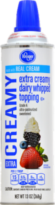 Whipped Cream, Kroger® Extra Creamy Whipped Cream (13 oz Can)