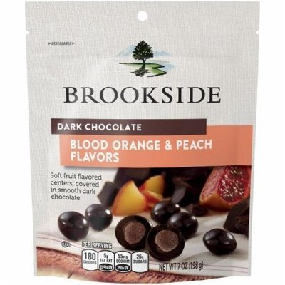 Dried Fruit, Brookside® Dark Chocolate with Blood Orange & Peach (7 oz Bag)