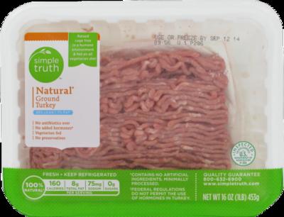 Ground Turkey, Simple Truth™ Ground Turkey 93% Lean (1 lb Tray)