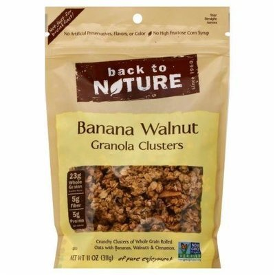 Trail Mix, Back To Nature® Banana Walnut Granola Clusters (11 oz  Bag)
