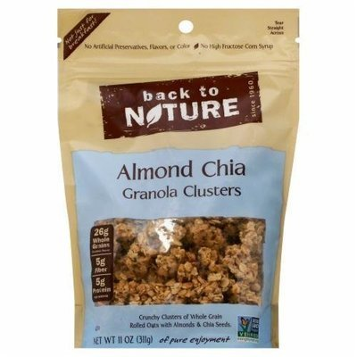 Trail Mix, Back To Nature® Almond Chia Granola Clusters (11 oz  Bag)