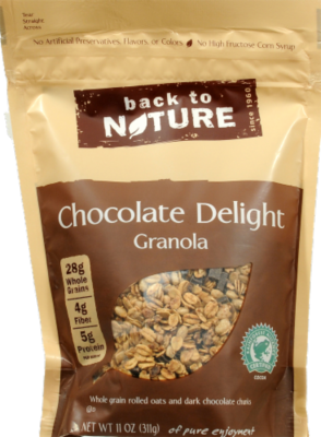 Trail Mix, Back To Nature® Chocolate Delight Granola (11 oz  Bag)