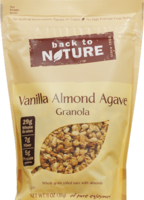 Trail Mix, Back To Nature® Vanilla Almond Agave Granola (11 oz  Bag)