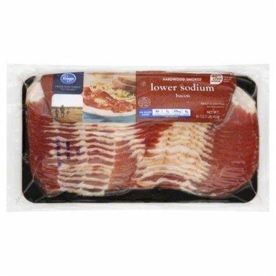 Fresh Bacon, Kroger® Hardwood Smoked Lower Sodium Bacon (16 oz Bag)