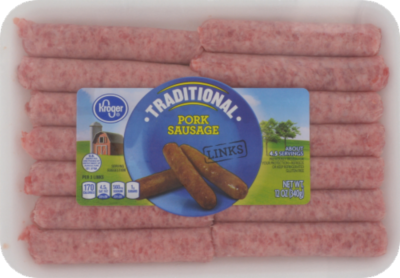 Fresh Sausage Links, Kroger® Traditional Pork Sausage Links (12 oz Tray, 14 Count)