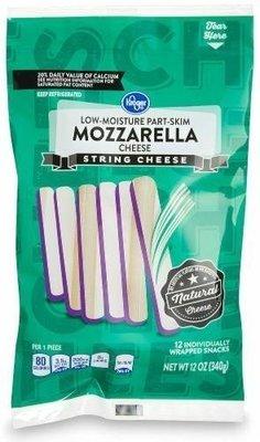 String Cheese, Kroger® Mozzarella String Cheese (12 oz Bag)