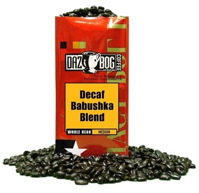 Bean Coffee, Dazbog® Babushka Whole Bean Decaf Coffee (12 oz Bag)