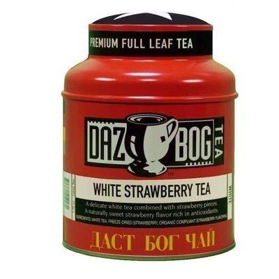 Tea, Dazbog® Strawberry White Tea (1.75 oz Jar)